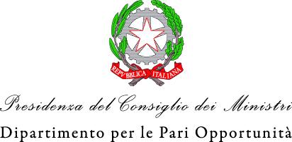 Logo Dipartimento per le Pari Opportunità della Presidenza del Consiglio dei Ministri